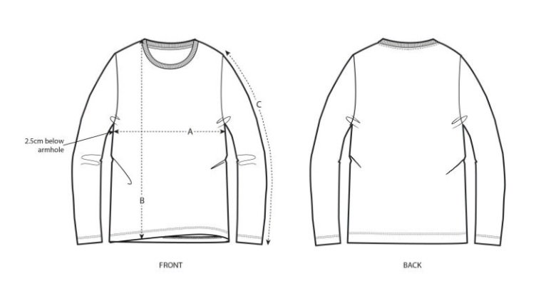 long sleeve guide size