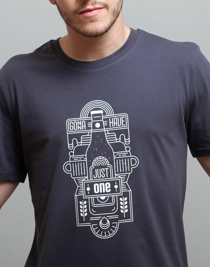 100% organic cotton mens beer t-shirt, illustration t-shirt, unique design