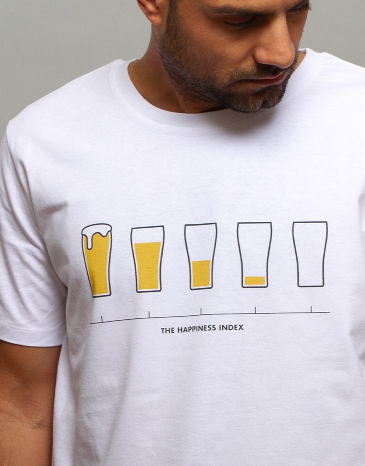Mens beer t-shirt, 100% organic cotton, funny illustration, mens graphic tee, unique designs t-shirts
