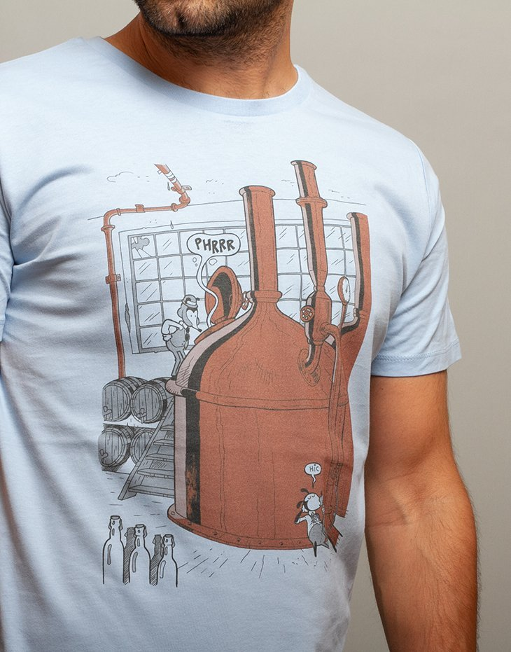 Mens beer t-shirt, 100% organic cotton, funny illustration, mens graphic tee, unique designs t-shirts, comic t-shirt